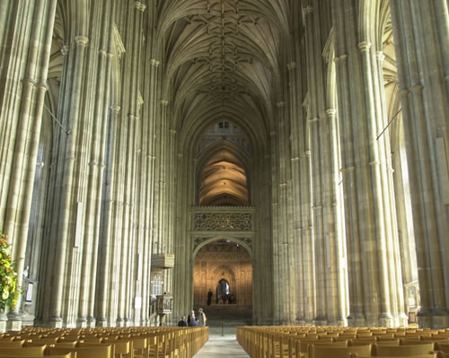 Nave interior - canterbury cathedral - attraction